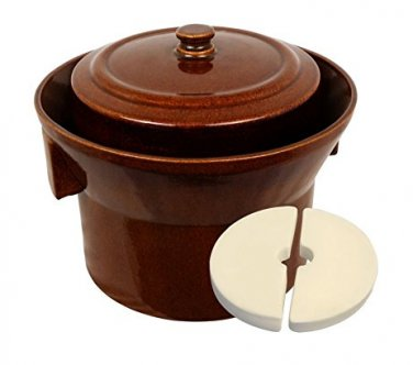 K&K Keramik German Made Gartopf Fermenting Crock Pot Kerazo F1 5 L (1.3 Gal)