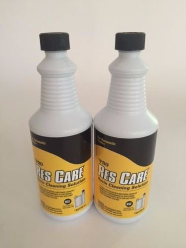 New 2 Pro Res Care Liquid Water Softener Cleaner Resin Cleaning Solution For Automatic Feeders 1 Qt