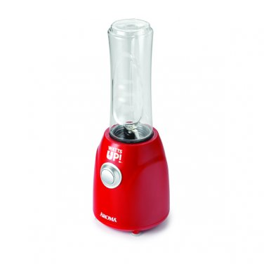 New Aroma Housewares Watts Up Single Serve Personal Blender with 2 Bottles,300W,ABD-100-2R,Red