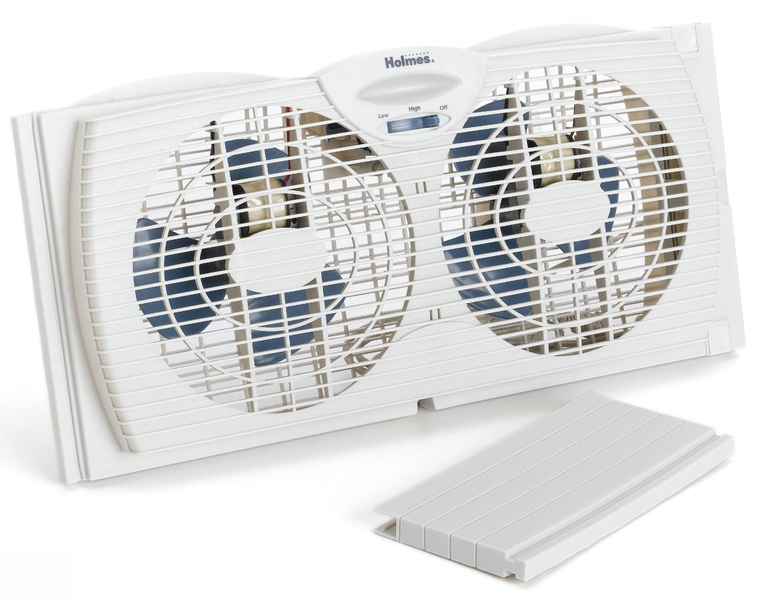 Holmes Dual Blade Twin White Window Fan Ideal For Double Hung & Slider Windows