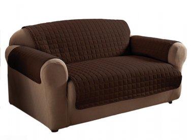 Innovative Textile Microfiber Chocolate Colour Loveseat Furniture Protector