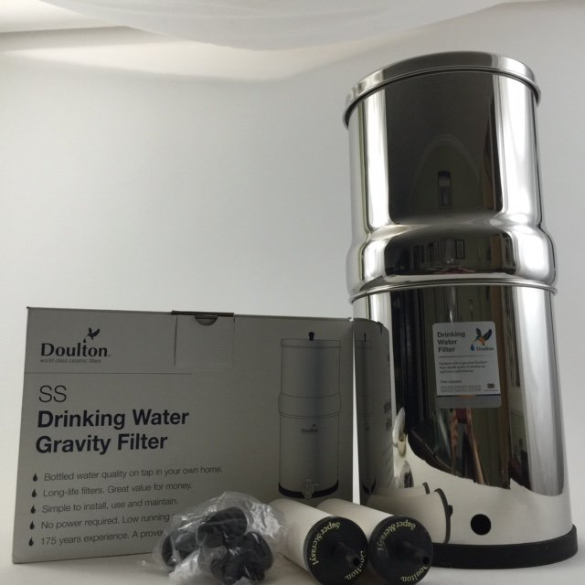 Doulton SS2 Stainless Steel Countertop Gravity Filter System W9361122 New