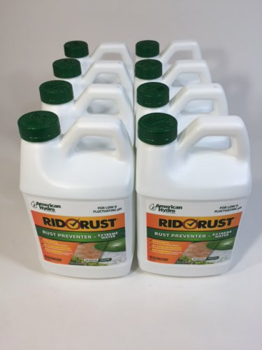 8 X RR2 Rid O' Rust Extreme Water 2X Concentration Stain Preventer 64FL OZ Each