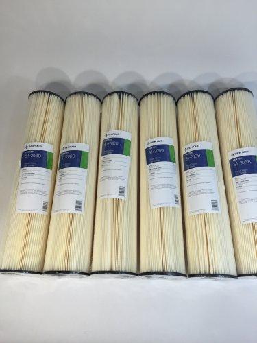 "6 pk Pentek S1-20BB Pleated Cellulose Sediment Water Filter Cartridge 20 Micron 20""x4-1/2"" 155305-43"