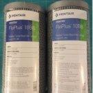 2 Pk Pentek FloPlus 10BB 0.5 Micron 10 x 4.5 Carbon Block Cartridge 455905-43