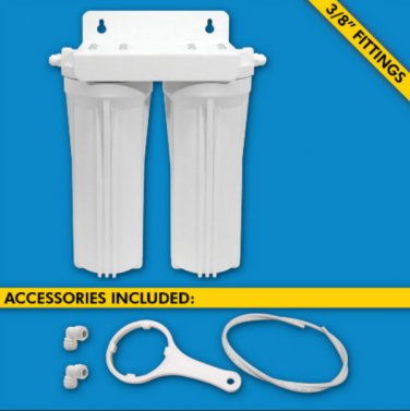 H2O Dual Stage Under Sink Inline Water Filtration System UCF-02-38-USA