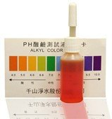 pH Drops and Color Chart