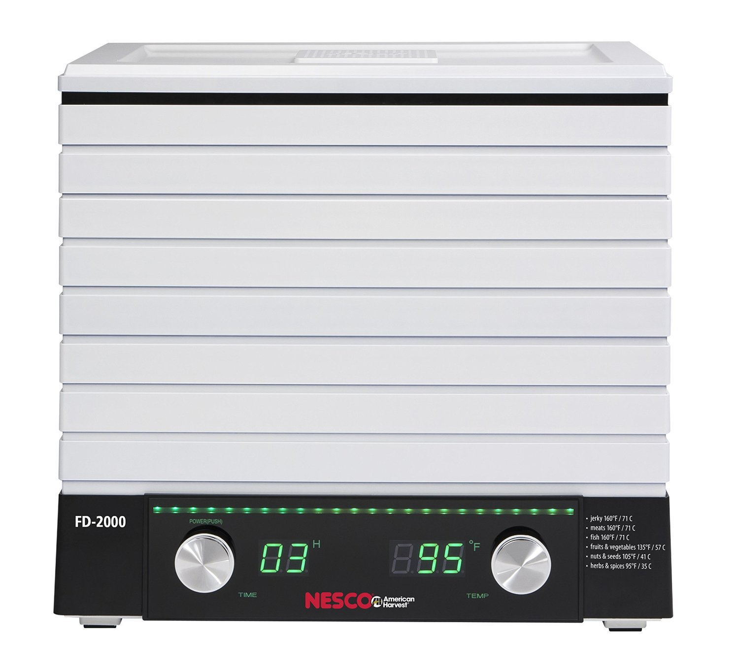 Nesco FD-2000 Digital Square Dehydrator, 530-watt, White