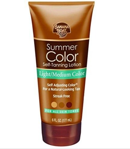 Banana Boat Self-Tanning Lotion, Light/Medium Summer Color for All Skin Tones