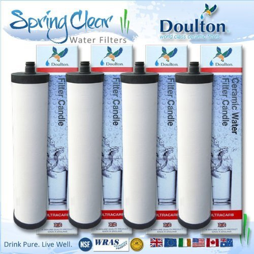4 x Pack - Franke Triflow Compatible Filter Cartridges By Doulton M15 Ultracarb