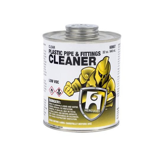 16 Oz. Plastic Pipe And Fittings Cleaner (Clear)