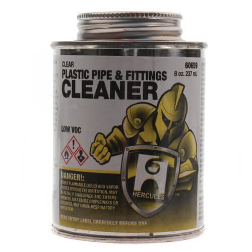 8 oz. Plastic Pipe and Fittings Cleaner (Clear)