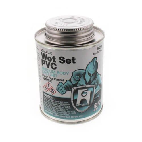 8 oz. Medium Body, Fast Set PVC Cement (Blue)