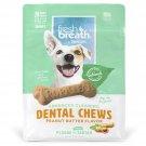 Tropiclean Fresh Breath Peanut Butter Flavored Dental Chews, 20 Pack, Small