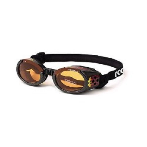 Doggles ILS Small Metallic Flames Frame and Orange Lens