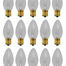 25 Qty. Halco 7W C9 CL INT 130V Halco C9CL7 7w 130v Incandescent Clear Lamp Bulb
