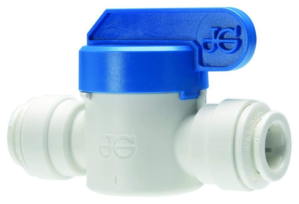 "John Guest PPSV040808WP Single Straight Shut-Off Valve, 1/4"" Tube OD x 1/4"""