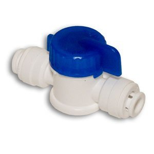 """CCK 1 / 4""""x1/4"""" Straight Ball Valve w/ Quick Connect RO Reverse Osmosis"""