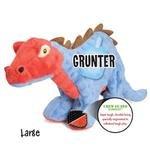 goDog Spike Dino Dog Toy with Chew Guard - Blue