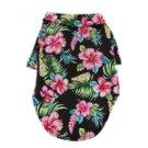 Hawaiian Camp Shirt by Doggie Design - Paradise Nights - Black - XX-Small