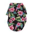 Hawaiian Camp Shirt by Doggie Design - Paradise Nights - Black - Small