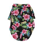 Hawaiian Camp Shirt by Doggie Design - Paradise Nights - Black - Medium