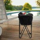 Portable Folding Tub Ice Cooler with Stand & Travel Bag