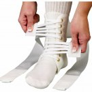 ASO Speed Lacer White Medium A Pair For Right Foot and Left Foot