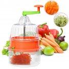 Multifunctional Manual Spiral Plastic Vegetable Slicer Fruit Cutter