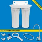 H2O UCF-02-USA, Dual Stage Under Sink System with Faucet (Cartridges Sold Separa