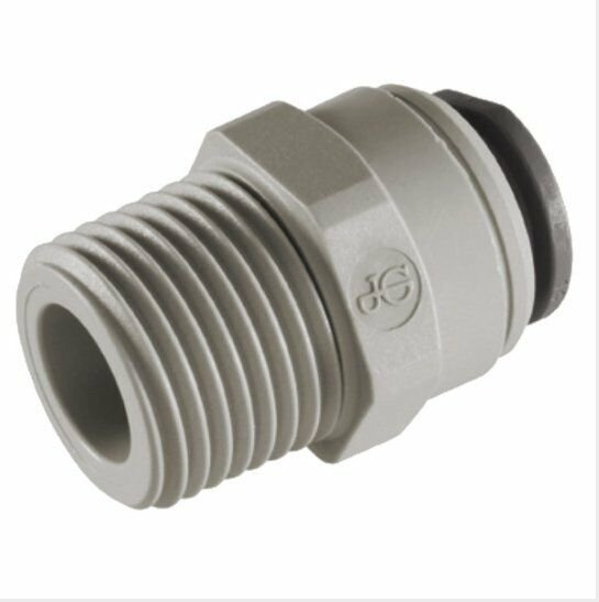 """3/8"""" x 1/4"""" NPTF Male Connector Straight Adaptor Connection Acetal John Guest"""