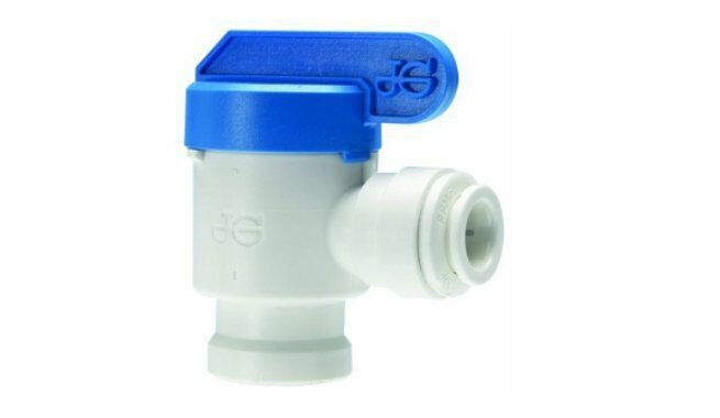 """Reverse Osmosis Tank Valve with 1/4"""" Quick-Connect Fitting PPSV500822W John Gues"""