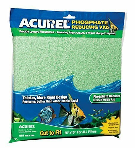 Acurel Infused Media Pads for Aquariums and Ponds, 10-Inch by 18-Inch