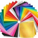 Adhesive Vinyl Sheets - 50 Pack 12'' X 12'' Premium Permanent Self Adhesive Viny