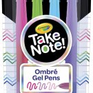 Crayola Ombre Washable Gel Pens, 3 Shades in 1 Pen, Office & School 4Ct Ombre