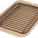 Nordic Ware 42210 Toaster Oven 2-Piece Broiler, Compact, Metalic Gold