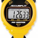 ACCUSPLIT Pro Survivor - A601X Stopwatch, Clock, Extra Large Display Yellow