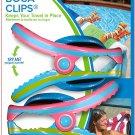 Flip Flop BocaClips by O2COOL, Beach Towel Holders, Clips, Set of Flip Flop