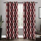 Exclusive Home Curtains Ironwork Sateen Woven Blackout Grommet 52x108 Burgundy