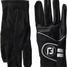 FootJoy Men's RainGrip Golf Gloves, Pair (Black) Large Pair