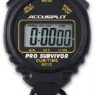 ACCUSPLIT Pro Survivor - A601X Stopwatch, Clock, Extra Large Display Black