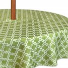 """DII Spring & Summer Outdoor Tablecloth, Spill Proof and 60"""" Round w/ Zipper"""