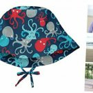 i play. by green sprouts Baby Bucket Sun Protection Hat 2-4T Navy Octopus