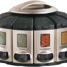 KitchenArt 57010 Select-A-Spice Auto-Measure Carousel Select-A-Spice Pro, Satin
