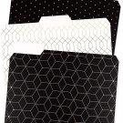 U Brands Modern Classic Fashion File Folders, 1/3 Cut, Letter Modern Classic
