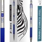 Zebra F-301 Ballpoint Stainless Steel Retractable Pen, Fine Point, 0.7mm, Blue