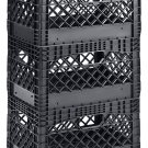 Muscle Rack PMK24QTB-3 24 Quart 3 Pack Black Heavy Duty Rectangular Black