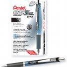 Pentel EnerGel RTX Retractable Gel Ink Pen, Medium 0.7mm Needle Black 12 Pack