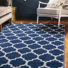 Unique Loom Trellis Collection Moroccan Lattice Dark 8' 0 x 11' 0 Dark Blue