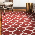 Unique Loom Trellis Collection Moroccan Lattice Red Area Rug 8' 0 x 10' 0 Red